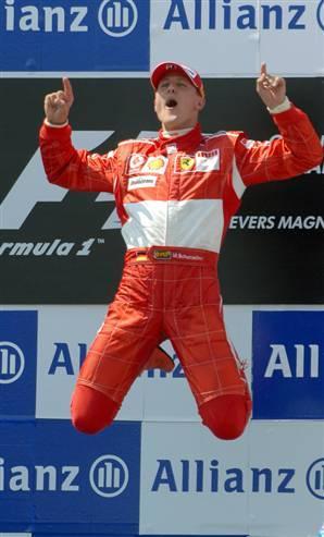 Schumacher, durante su etapa en Ferrari.